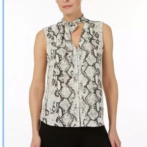 NWT Laundry by shelli Segal Tie neck top size L